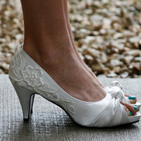Ivory Wedding Heel with Lace