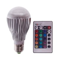E27 10W LED RGB Magic Lamp Light Bulb Color Changing Spotlight + Remote Control