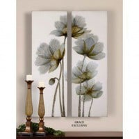 Uttermost Floral Glow Wall Art (Set of 2) - 34201 - Canvas Art - Wall Art &amp; Coverings - Decor
