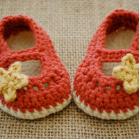 You Choose Color Mary Jane Baby Girl Booties by MaddyMade on Etsy