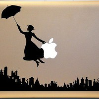 Mary Poppins Inspired Macbook Vinyl Decal for  MAC Laptop | MakeItMineDesigns - Techcraft on ArtFire