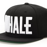 Civil Inhale Black Snapback Hat