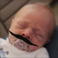Mustache Pacifier Charlie Chapman Style FREE SHIPPING | Luulla