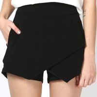 YARA Foldover Skorts (Black) [PREMIUM] – So Frocking Good