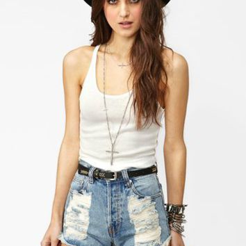 Ribbed Crop Tank - White in  What's New at Nasty Gal