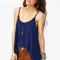 Pretty Pleats Tank - Navy in  What&#x27;s New at Nasty Gal
