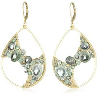 Dana Kellin Aqua Mix Dramatic &quot;Aqua Mix&quot; Encrusted Teardrop Earrings