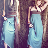 nomad convertible travel dress bamboo/hemp by RunWithTheTribe