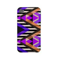 Purple Zigzag Pop Aztec Case-mate Iphone 4 Cases from Zazzle.com