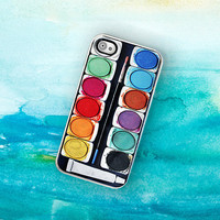 iPhone Case Watercolor Paint Set iPhone Hard by TheCuriousCaseLLC