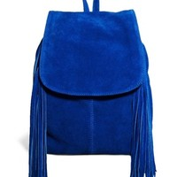 ASOS Suede Big Backpack with Fringing