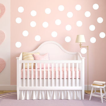 Wall Decals Polka Dots Set of 24 Childrens Room Nursery Decor 22402
