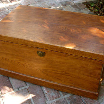 Antique Vintage Trunk Wood Shabby Cottage by honeystreasures