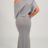 Follow Me Home Dress: Light Gray
