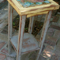 Wood Table Shabby Handcrafted Chic Cottage by honeystreasures