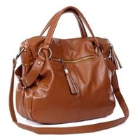 THG Brown Girl Casual Adjustable Clutch Tote Shoulder Hobo Bag Messenger Handbags