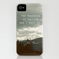 Muir: Mountain iPhone Case by Leah Flores | Society6