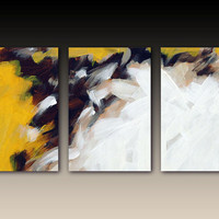 Canvas print with gallery wrap large Triptych by FinnellFineArt
