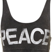 Peace Bra Top - Jersey Tops  - Clothing  - Topshop