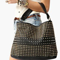 Totally Studded Bag - Black in  What's New at Nasty Gal