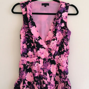 Ruffled Floral Playsuit