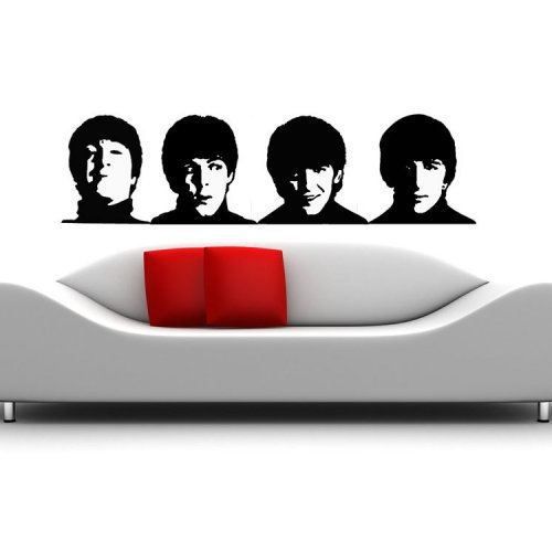 Stylized The Beatles John Lennon Paul McCartney George Harrison Rin...... | VinylWallAccents - Housewares on ArtFire