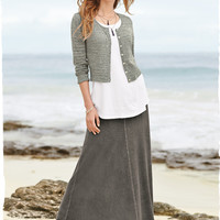 Cannes Jersey Skirt - Calf Length & Long Skirts - Skirts & Pants