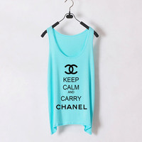 Keep Calm and Carry Chanel  Women Tank Top  Light by zzzAfternoon