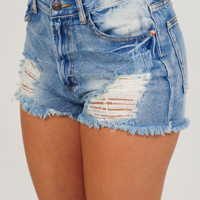 Wide Open Spaces Shorts: Denim