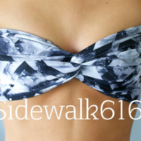 Tribal Galaxy Print Bandeau Top Spandex Bandeau