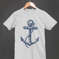 Anchor Sketch - Nautical Shirt for women and men
