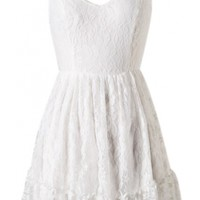 Open Back Lace Dress - Kely Clothing