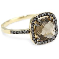 Kalan by Suzanne Kalan Smokey Quartz Cushion Cut Ring