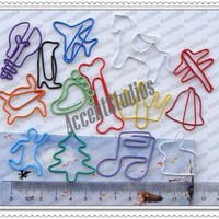 100 Assorted Cute Shaped Paper Clips Bk-mark Paperclips | eBay
