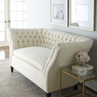 "Old Hickory Tannery ""Ellsworth"" Tufted-Curve Sofa - Horchow"