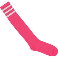 FULL TILT Athletic Striped Over The Knee Socks