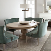 Hotel Maison &quot;Prudence&quot; Pedestal Dining Table &amp; &quot;Brumley&quot; Velvet Banquette - Horchow