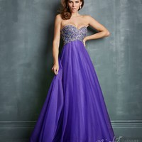 Night Moves by Allure - Purple Tulle & Sequin Sweetheart Prom Gown Prom 2015