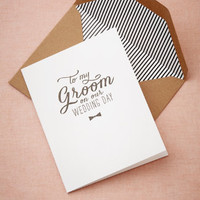 To My Groom Card