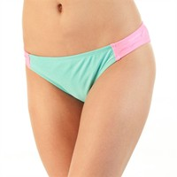 The Bikini Lab Juniors Color Block Bikini Bottom with Bow Back at Von Maur