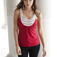 EMBELLISHED BIB CAMI | Body Central