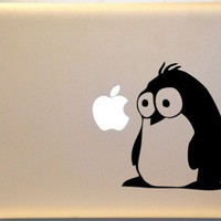 Fluffy Penguin Macbook Decal Vinyl Sticker for Mac PC Laptop | KrazyKutz - Housewares on ArtFire