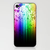 Rainbow Splatter iPhone &amp; iPod Skin by CosmosDesignz | Society6