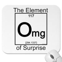 Element OMG Mouse Mats from Zazzle.com