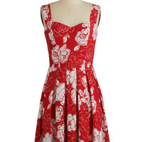 ModCloth Americana Mid-length Sleeveless A-line Cherished Choice Dress