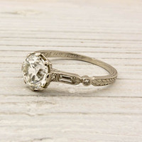 1.40 Carat Old European Cut Diamond Engagement Ring | Shop | Erstwhile Jewelry Co.
