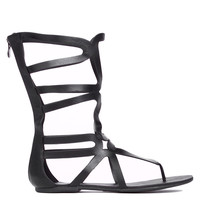 Heart Soul Cypress Gladiator Sandal in Black