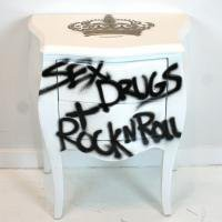 www.roomservicestore.com - Sex, Drugs + Rock 'N Roll Bombay Nightstand