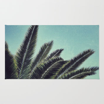 Palms Area & Throw Rug by RichCaspian | Society6