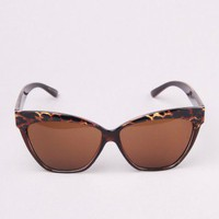 Cesia Cat Eye Sunglasses in Leopard by AKIRA | Cat Eyed Sunglasses | shopAKIRA.com